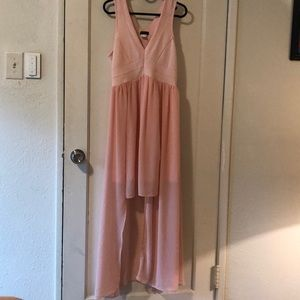 Venus Pink high low dress size large